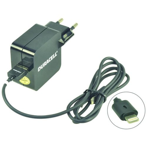 Duracell Punjač – Uni 1xUSB + Lightning cable – 2.4A - Black slika 2