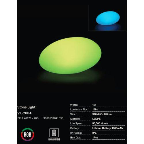 LED bežična punjiva rasvjeta — STONE slika 3