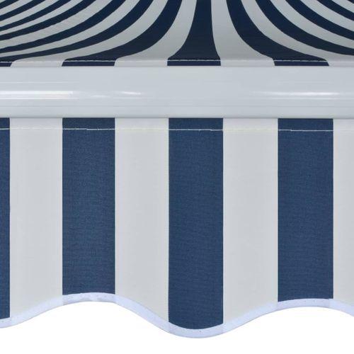 Tenda na Ručno Sklapanje 500 cm Plavo-Bijela slika 11