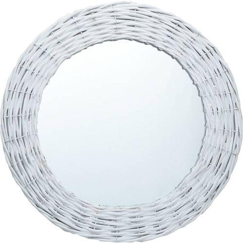 Ogledalo od pruća 70 cm bijelo slika 8