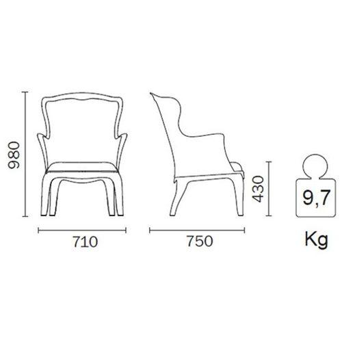 Dizajnerska fotelja — POLY LOUNGE slika 25