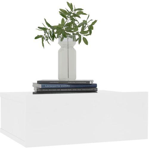 Viseći noćni ormarići 2 kom bijeli 40 x 30 x 15 cm od iverice slika 3