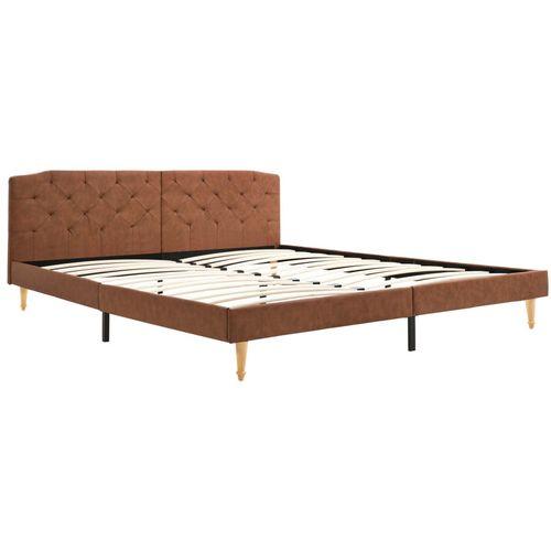 Krevet od tkanine s memorijskim madracem smeđi 180 x 200 cm slika 7