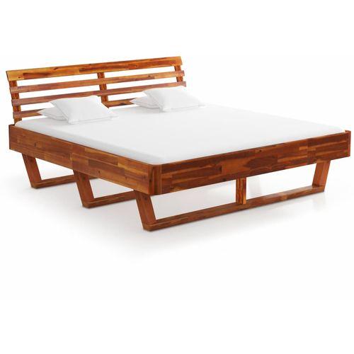 Okvir za krevet od masivnog bagremovog drva 160 x 200 cm slika 10