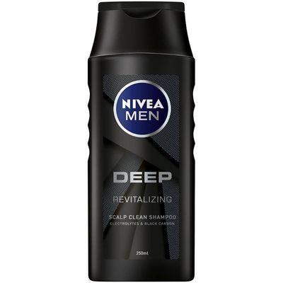 NIVEA MEN Deep Revitalizing muški šampon pruža dubinsko čišćenje kose zahvaljujući aktivnom ugljenu. Njegova odlična formula pobrinut će se da kosa ostane zdrava i svježa.
