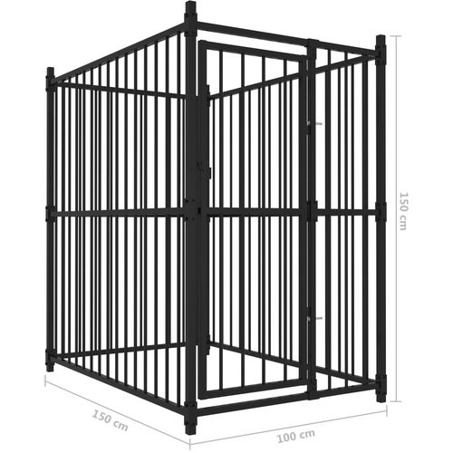Vanjski kavez za pse 150 x 100 x 150 cm slika 5