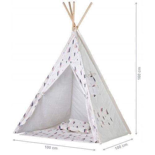 Šator s podlogom Forest - Grey / Pink slika 3