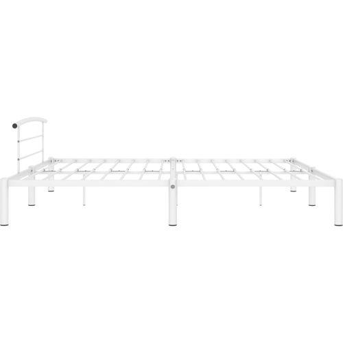 Okvir za krevet bijeli metalni 200 x 200 cm slika 4