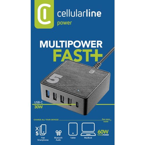 Cellularline kućni punjač Multipower 5 Fast + 60W slika 4
