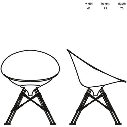 Dizajnerska stolica — by STARCK • 1 kom. slika 2