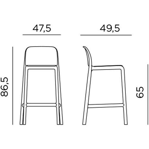 Dizajnerske barske stolice — GALIOTTO F • 2 kom. slika 3