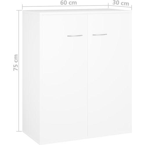 Komoda bijela 60 x 30 x 75 cm od iverice slika 13