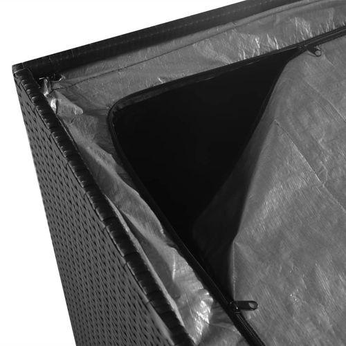 Vrtna kutija za pohranu od poliratana crna 150 x 100 x 100 cm slika 4
