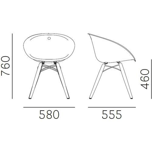 Dizajnerska stolica — by ARCHIVOLTO • 1 kom. slika 2