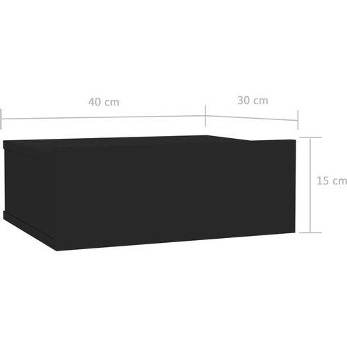 Viseći noćni ormarići 2 kom sjajni crni 40x30x15 cm od iverice slika 7