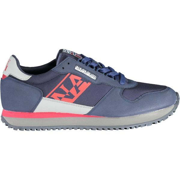 sports shoe with laces, contrasting sole, contrasting details, logo