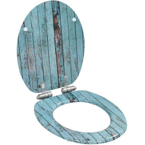 Toaletna daska s mekim zatvaranjem 2 kom MDF s uzorkom drva slika 2