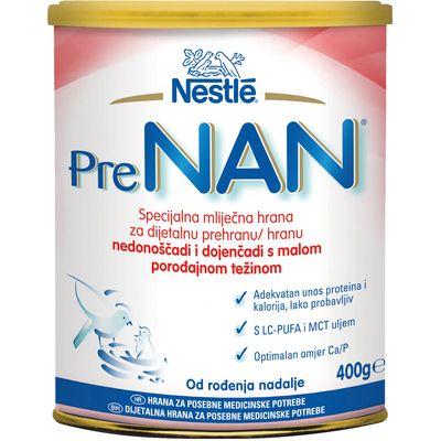 Nestlé PRE NAN je specijalna mliječna hrana za dijetalnu prehranu nedonoščadi i dojenčadi s malom porođajnom težinom