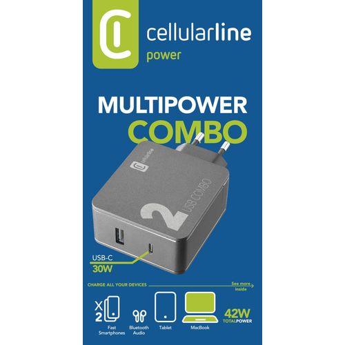 Cellularline kućni punjač Multipower 2 Combo 42W slika 3
