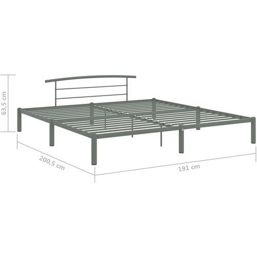 Okvir za krevet sivi metalni 180 x 200 cm slika 7