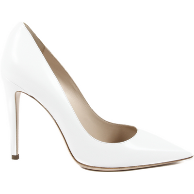 Details: 3103079 COLOMBA BIANCO - Color: White - Composition: 100% CALF LEATHER - Sole: 100% CALF LEATHER - Heel: 10.5 cm - Made: ITALY