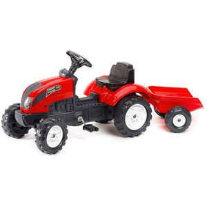 Ovaj prekrasan traktor Falk Garden Master u crvenoj boji izgleda točno poput pravih traktora. U prikolici se može uzeti sve – od igračaka do pijeska i sijena! Plastični kotači su vrlo izdržljivi, a prikolicu je vrlo lako povezati i odspojiti. To čini Falk Garden Master pogodnim za djecu od 2 godine, s maksimalnom težinom od 30 kilograma. Toot toot, javite svima da dolazite iza ugla!