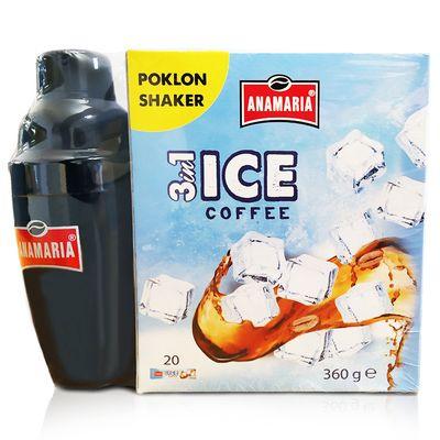 Set za pripremu osvježavajućeg kavinog napitka sastoji se od pakiranja Anamaria 3in1 Ice coffee 360 g i shakera na poklon.