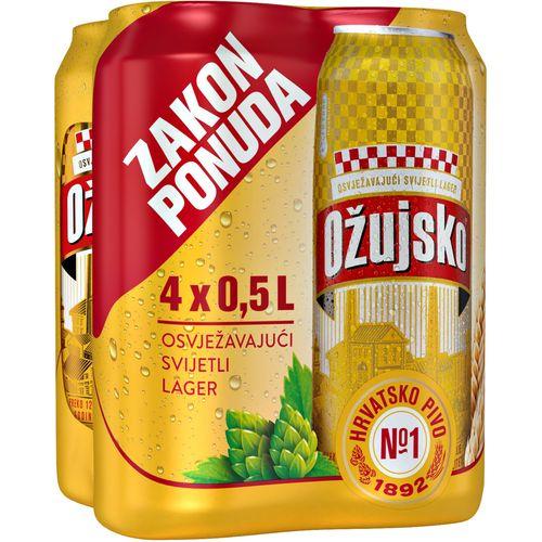 Ožujsko  svijetlo lager pivo 0,5 l  4 pack limenke slika 1
