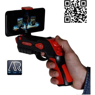 AR konzola (Augmented Reality) je zabavan gadget koji radi sa vašim pametnim telefonom i služi za igranje mobilnih igara. Preuzmite AR GUN aplikaciju (app store, google play) , spojite AR konzolu putem Bluetootha s pametnim telefonom i akcija može poče...
