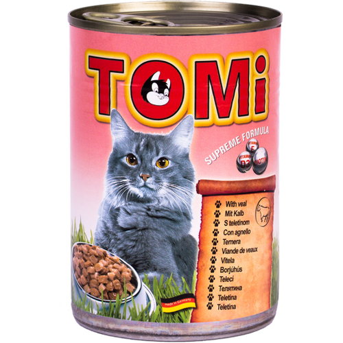 Tomi Hrana za mačke konzerva Teletina 400g slika 1