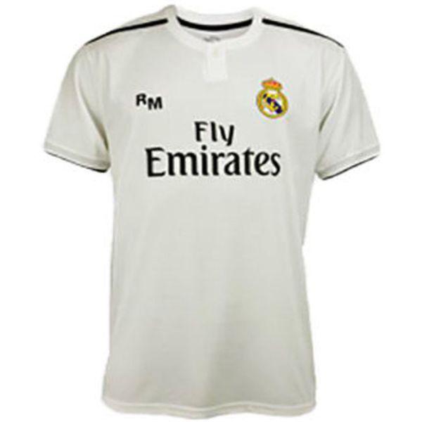 Bijeli dres s logom nogometnog kluba Real Madrid. Originalni proizvod Veličina: 10 Sastav: 100% poliester