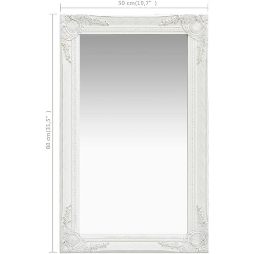 Zidno ogledalo u baroknom stilu 50 x 80 cm bijelo slika 6
