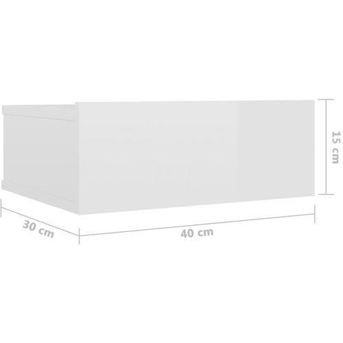 Viseći noćni ormarić visoki sjaj bijeli 40x30x15 cm od iverice slika 19