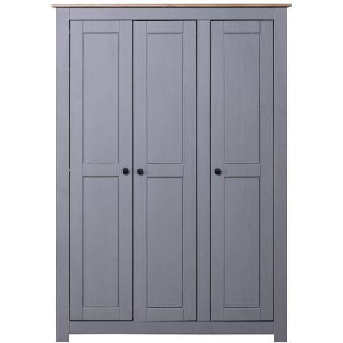 Ormar od borovine 3 vrata sivi 118x50x171,5 cm asortiman Panama slika 11