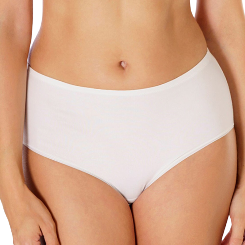 Ženske duboke gaćice, visoki struk, 6kom/bijela boja slika 1