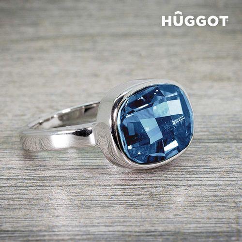 Prsten Presvučen Rodijem I'm Blue Hûggot Kreiran s Kristalima Swarovski® slika 2