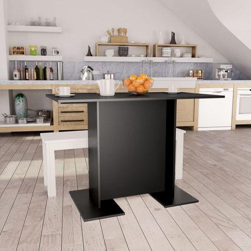 Blagovaonski stol crni 110 x 60 x 75 cm od iverice slika 1