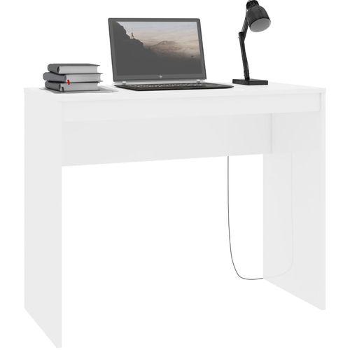 Radni stol visoki sjaj bijeli 90 x 40 x 72 cm od iverice slika 3