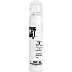 L'Oréal Professionnel Tecni.Art Ring Light sprej je naš prvi profesionalni sprej s mikro raspršivačem za visok sjaj kose sa sjajnim efektom. Formuliran bez dodatnog mirisa za idealnu ugodnost i čistu upotrebu.