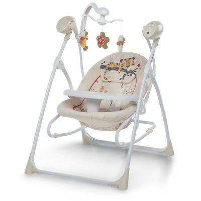 Foppapedretti glazbena ležaljka Carillon    Ležaljka ima mogučnost ljuljanja tako da je povezna na struju ili sa baterijama  Sa daljinskim upravljanjem 16 razičitih melodija  6 prirodnih zvukova  Vrtuljak sa različitim igračkama  Lako se sklapa i koristi  Može se koristiti i kao samostalna ležaljka  Jastučić za bebu koji se može ukloniti kada je beba veća  Pladanj se može lako ukloniti  Dimenzije: Kada je rasklopljena u cm: V 94,5 - D 74.5-| Š 67  Težina: 7,5 kg  Dimenzije paketa u cm: V 68 - D 14 - Š 51