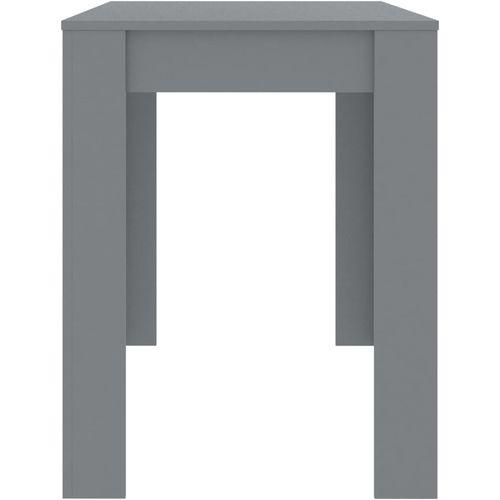 Blagovaonski stol sivi 120 x 60 x 76 cm od iverice slika 5