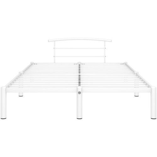 Okvir za krevet bijeli metalni 160 x 200 cm slika 3