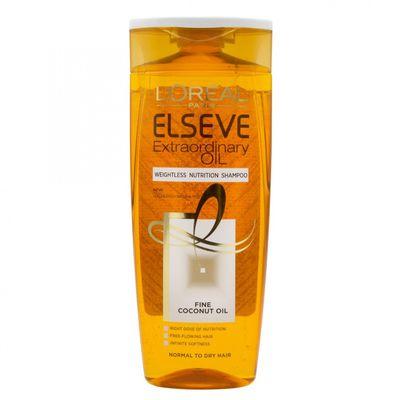 L'Oreal Paris Elseve Extraordinary Oil Coco Šampon 250 ml HRANJIVI Šampon ZA NJEGU NORMALNE DO SUHE KOSE, BEZ OTEŽAVANJA Hranjiva formula obogaćena kokosovim uljem čisti kosu i čini je sjajnom i njegovanom, bez otežavanja. Formula bez silikona, za...