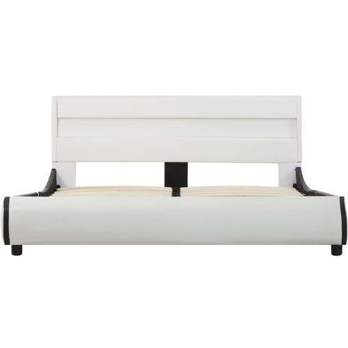 Okvir za krevet od umjetne kože LED bijeli 140 x 200 cm  slika 14