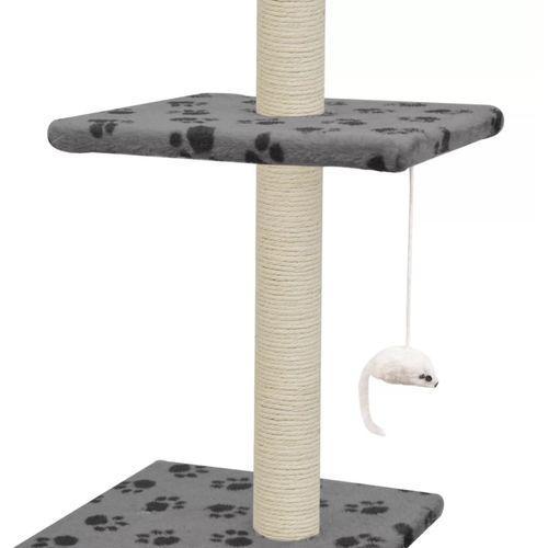 Penjalica za mačke sa stupovima za grebanje od sisala 260 cm siva s otiscima šapa  slika 6