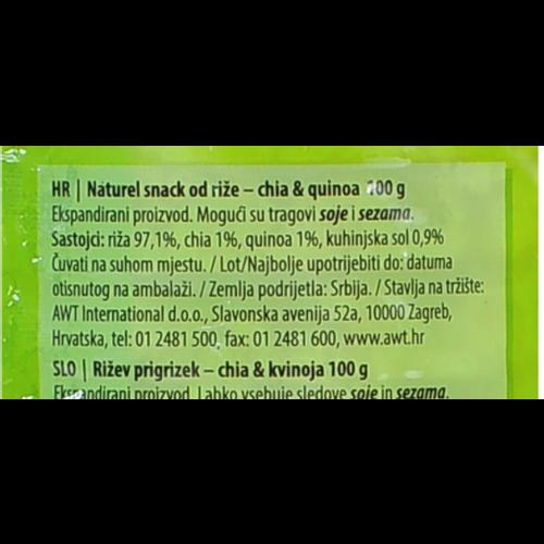 Naturel Rice Snack / Chia & Quinoa 100g slika 2