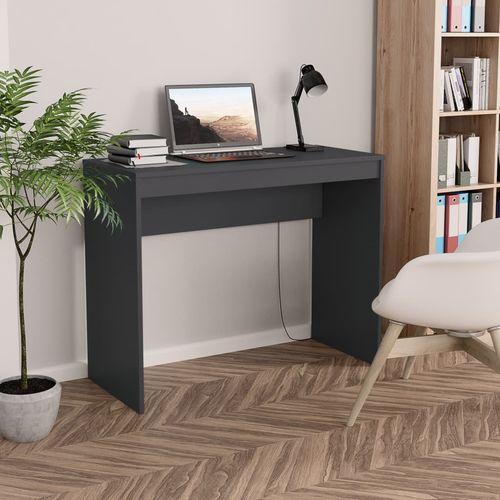 Radni stol sivi 90 x 40 x 72 cm od iverice slika 7