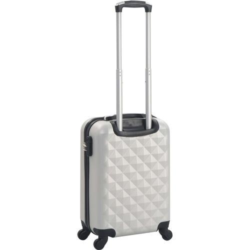 Čvrsti kovčeg s kotačima žarko srebrni ABS slika 3