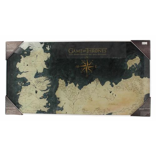 Game of Thrones Ponient Map stakleni poster slika 1