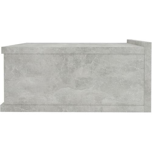 Viseći noćni ormarić siva boja betona 40x30x15 cm od iverice slika 5